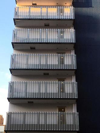 Perforated folded board (balcony handrail)