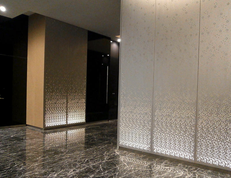 Entrance Light Wall Panel Building Interior Examples