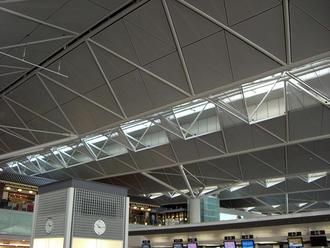Triangular ceiling panel