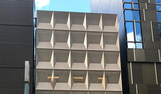 Exterior three-dimensional design punching panel
