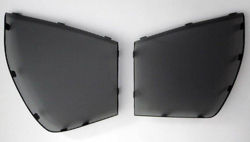 Car door speaker net