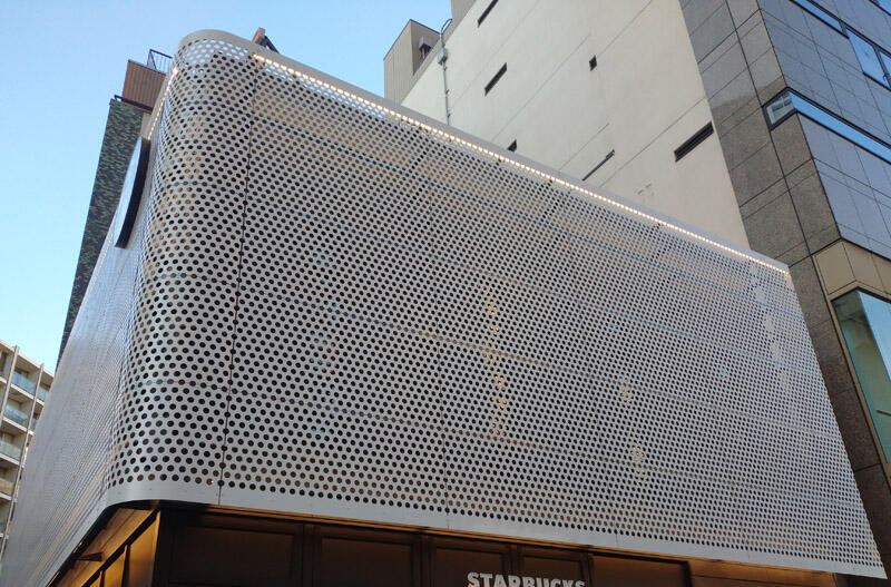 建築外装用アルミパンチングメタル