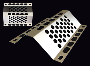 Perforated bent plate W=250type