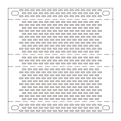 Perforated bent plate UE16(20.1%)