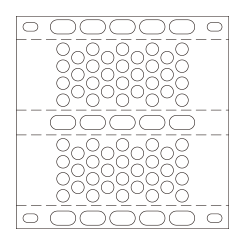 Perforated bent plate UM40(42.7%)